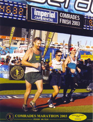 The finish of the 2003 Comrades.