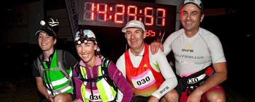 Team Run 4 Vision – winners of the 2012 Coastrek
