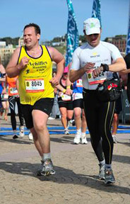 Ben and I during the Sydney Marathon in 2010.