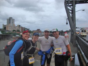Team Run 4 Vision on the Harbour Bridge.