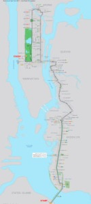 New York Marathon route map