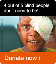 4 out of 5 blind people don't need to be. Donate now!